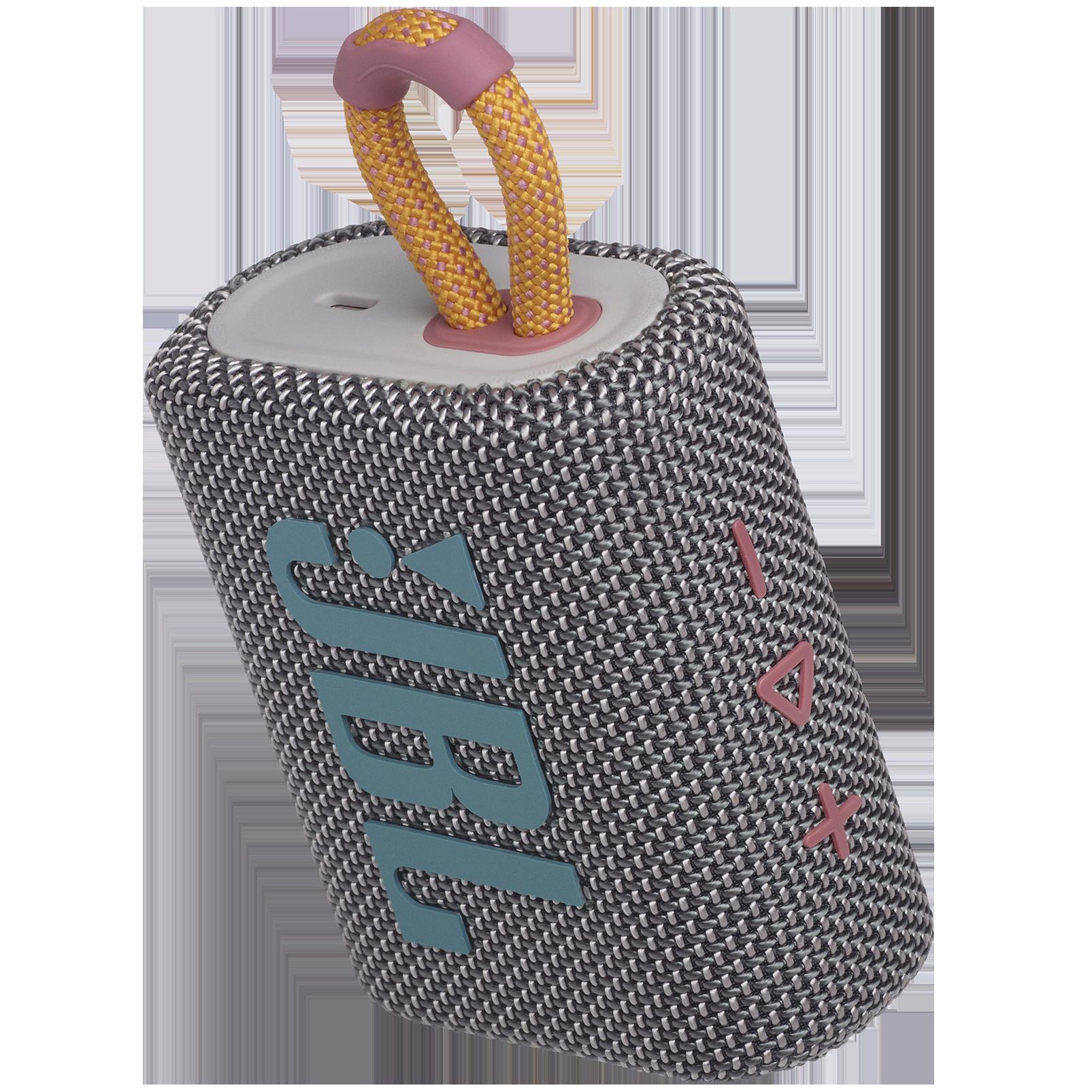 JBL GO 3 - Grey - Portable Waterproof Speaker - Detailshot 2