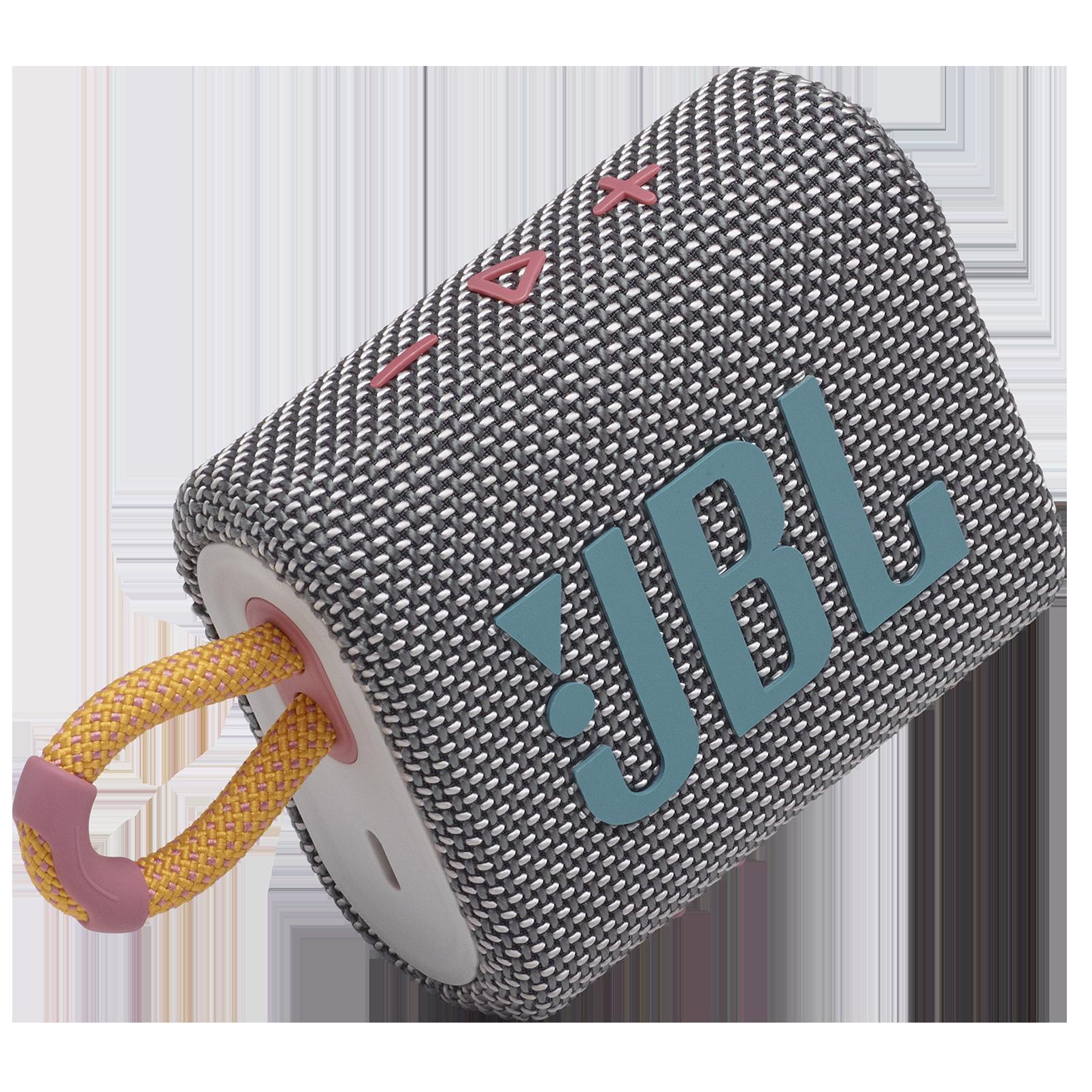 JBL GO 3 - Grey - Portable Waterproof Speaker - Detailshot 1