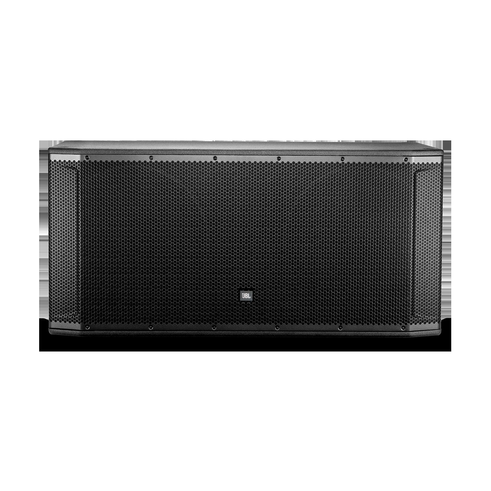 """JBL SRX828SP - Black - 18"""" Dual Self-Powered Subwoofer System - Front"""