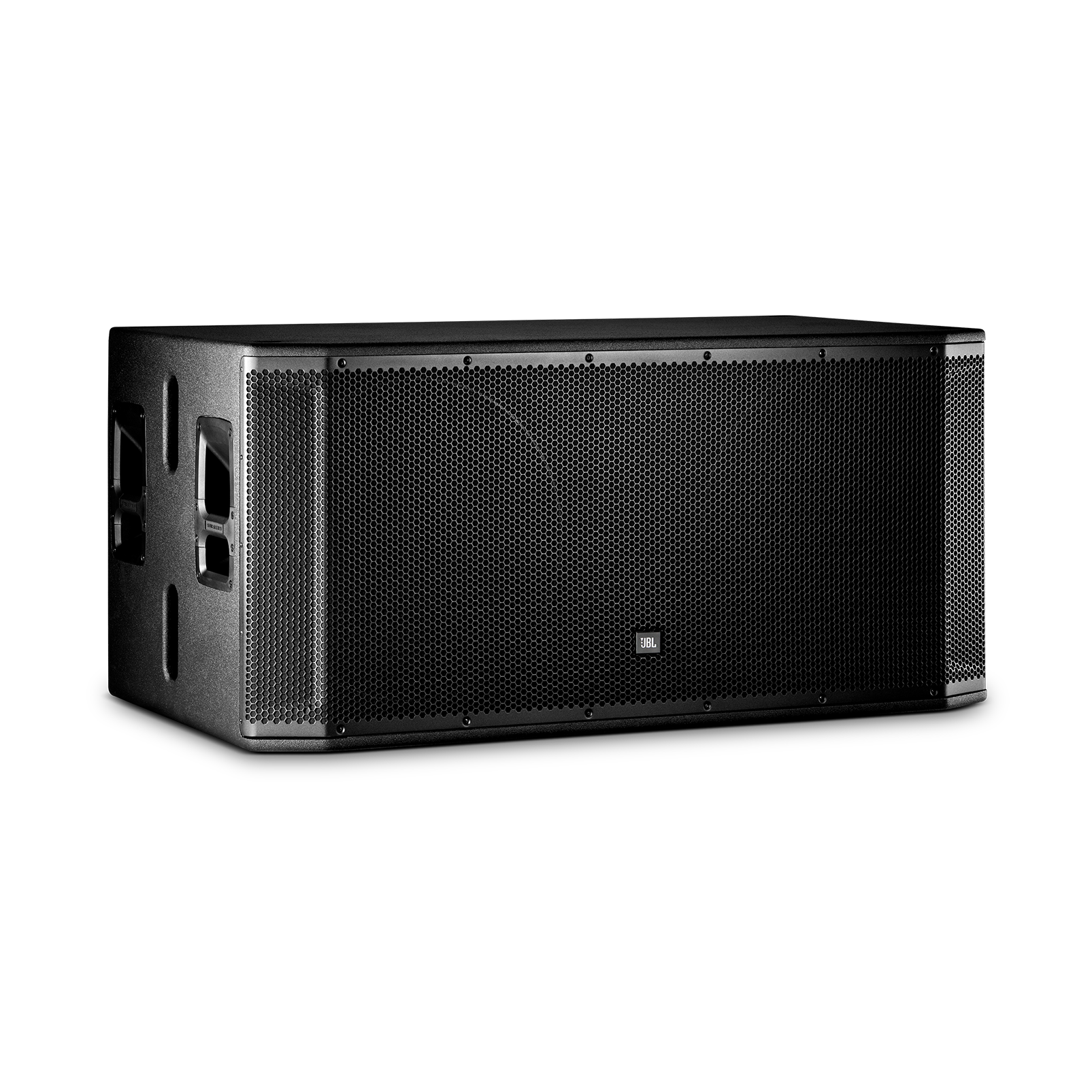 "JBL SRX828SP - Black - 18"" Dual Self-Powered Subwoofer System - Hero"