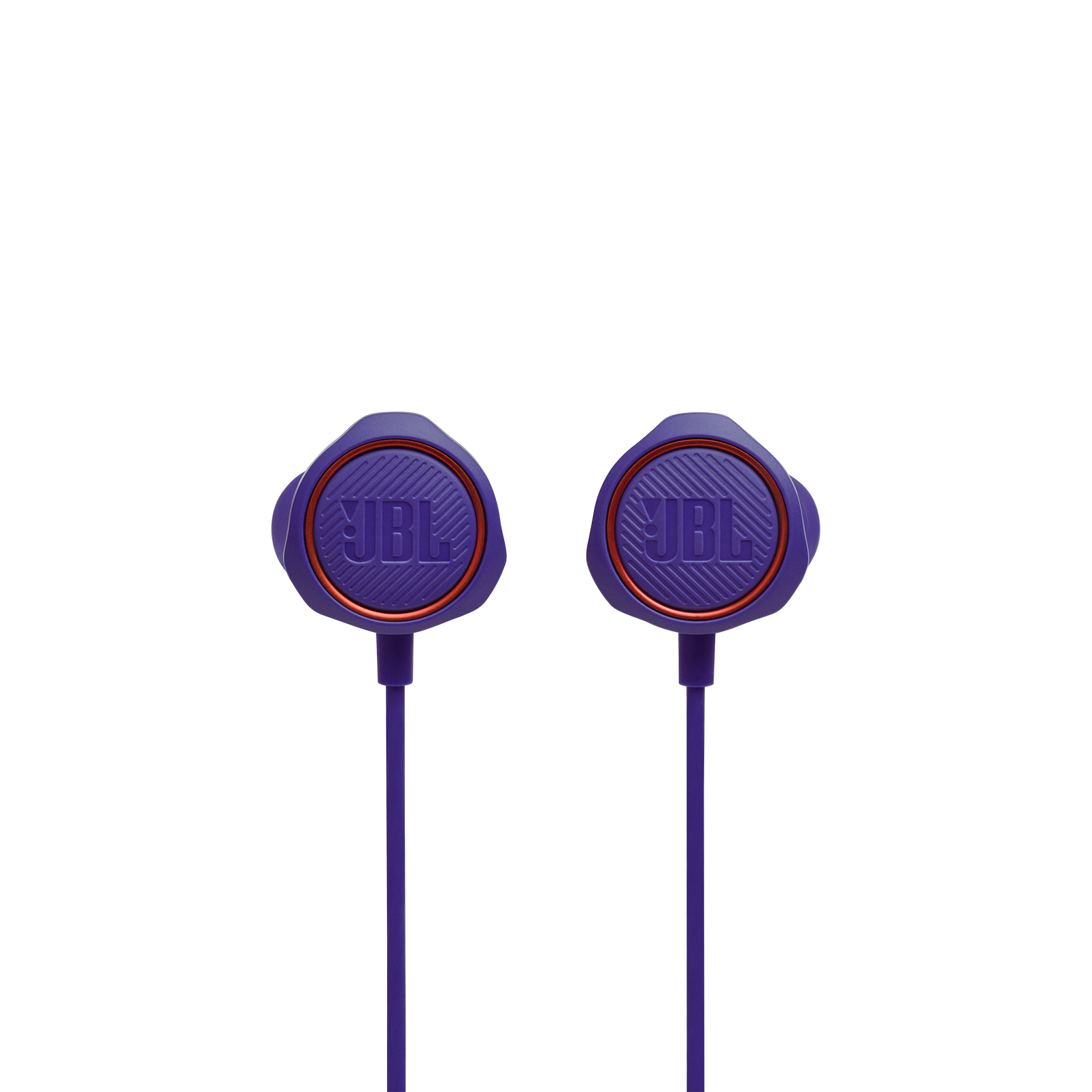 JBL Quantum 50 - Purple - Wired in-ear gaming headset with volume slider and mic mute - Front