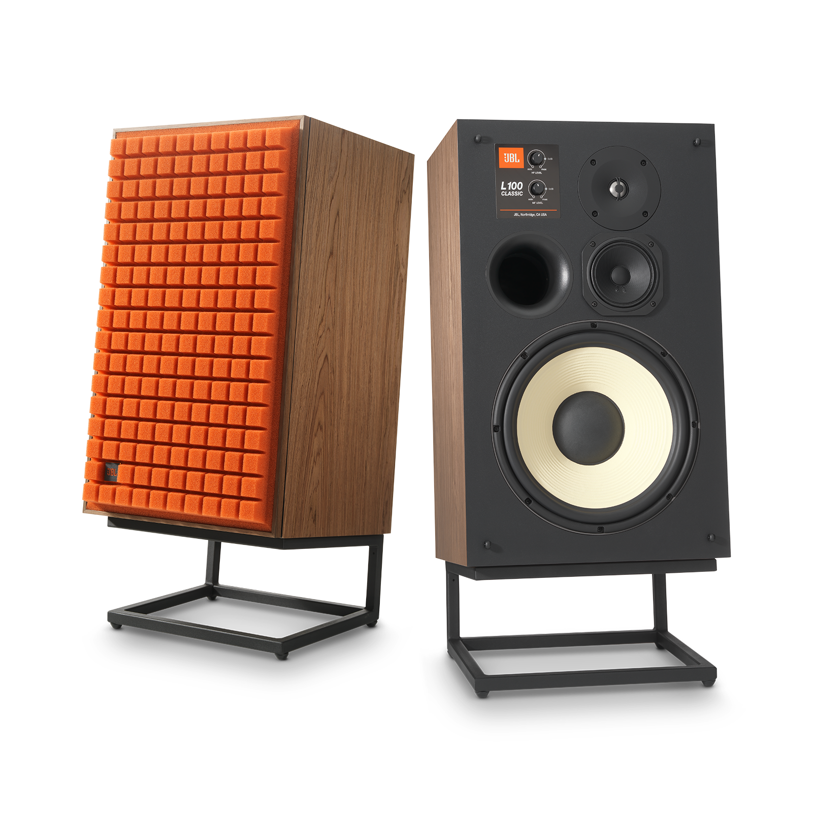 "L100 Classic - Orange - 12"" 3-way Bookshelf Loudspeaker - Hero"