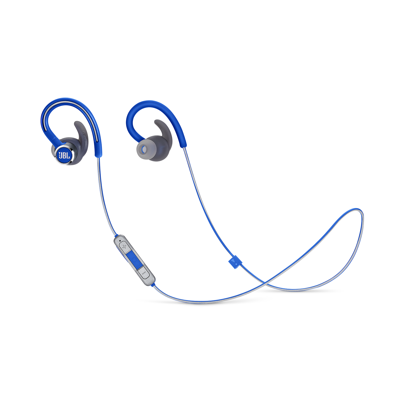 JBL Reflect Contour 2 - Blue - Secure fit Wireless Sport Headphones - Hero