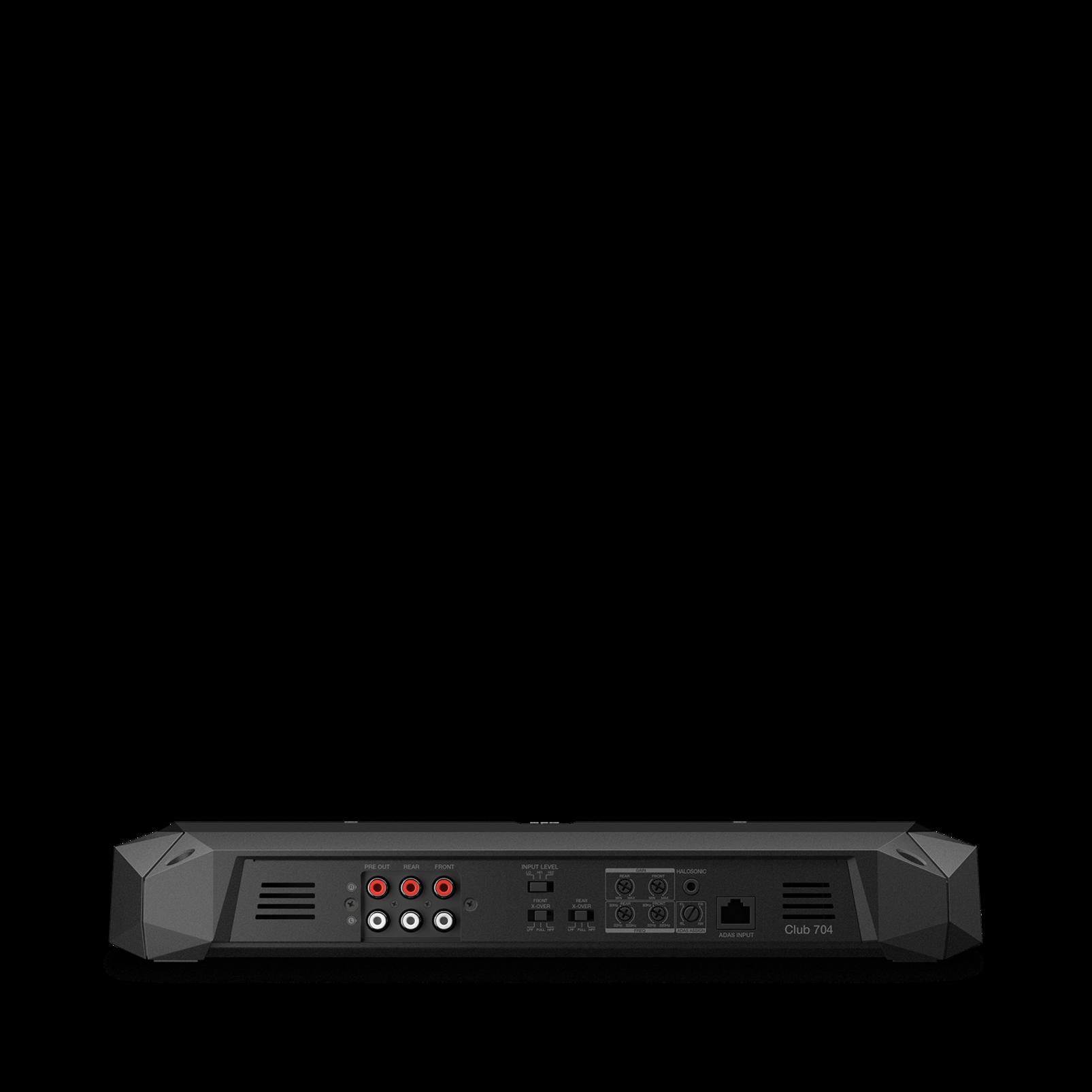 Club 704 - Black - high-performance 4-channel car amplifier - Back
