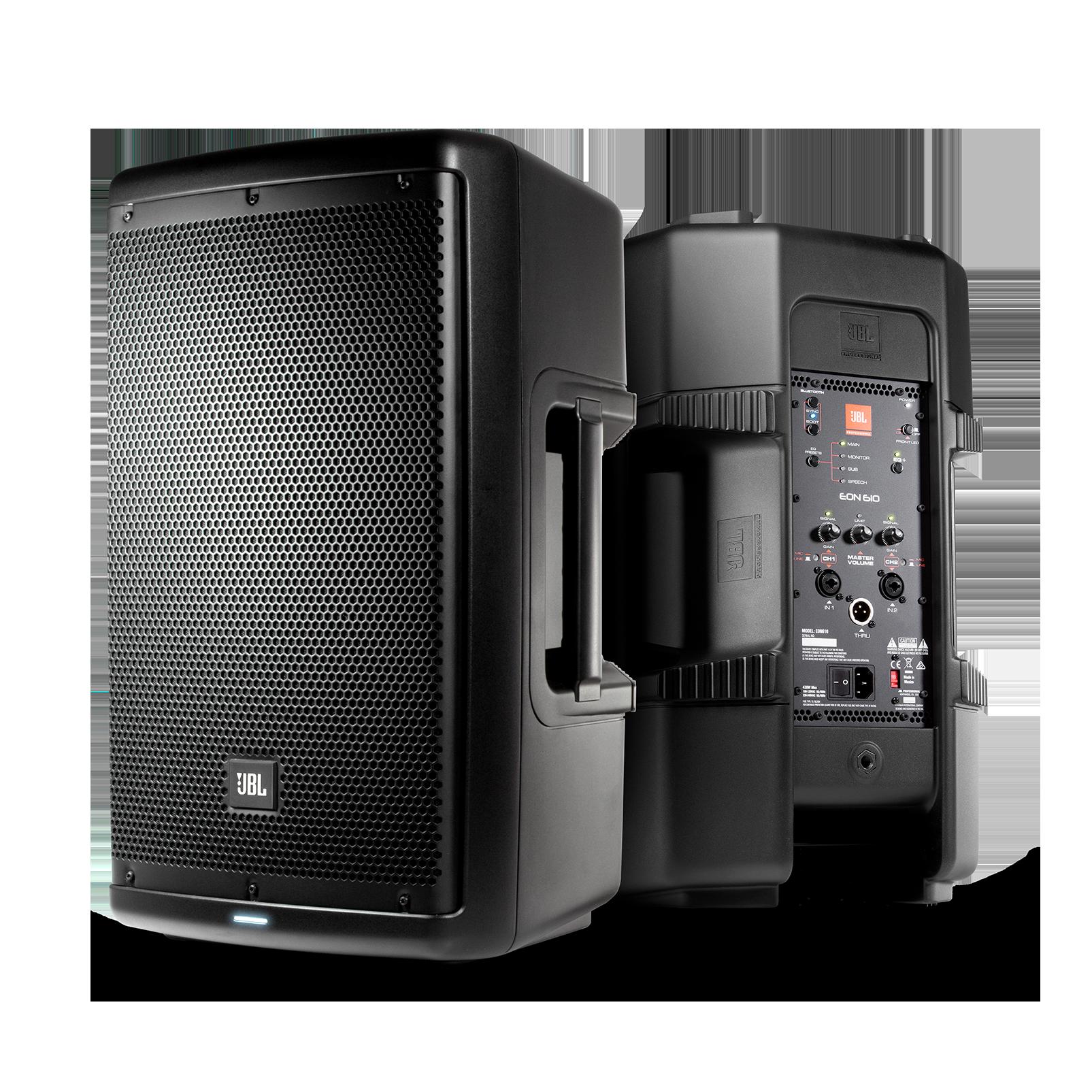 "JBL EON610 - Black - 10"" (25 cm) Two-Way Multipurpose Self-Powered Sound Reinforcement - Hero"