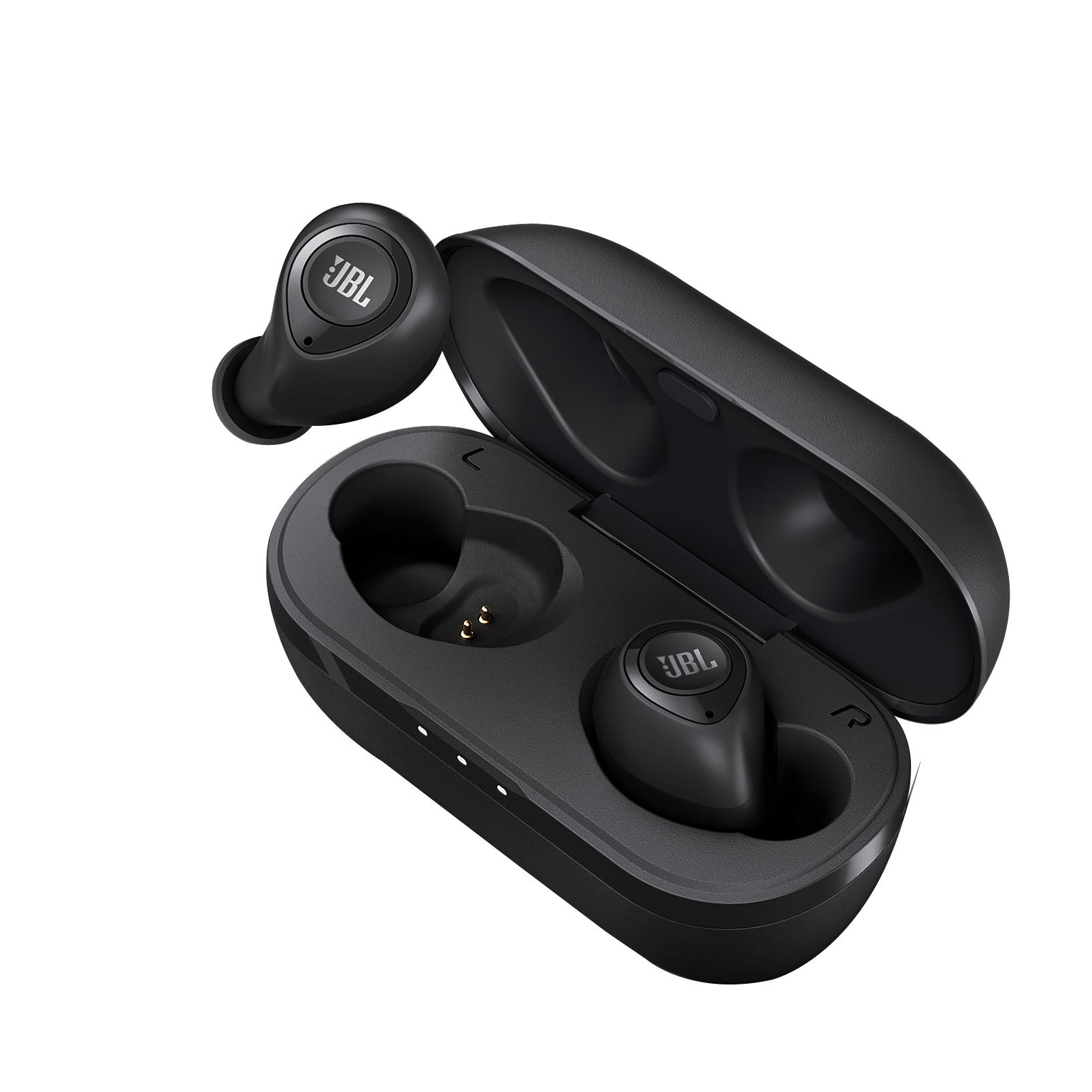 JBL T100TWS - Black - True wireless in-ear headphones. - Detailshot 2