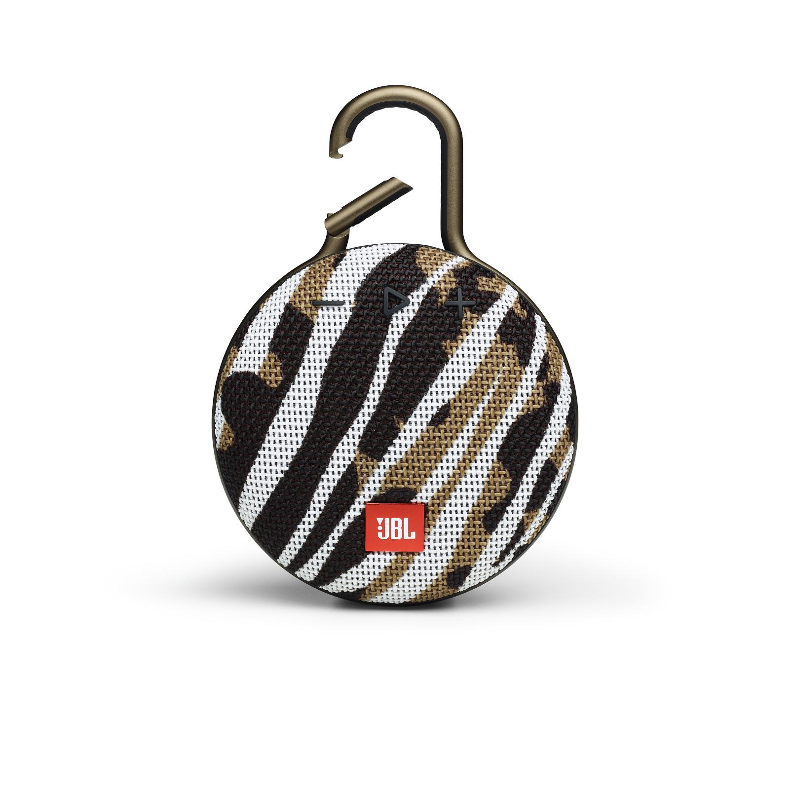 JBL CLIP 3 - BlackWhite/Brown Camo - Portable Bluetooth® speaker - Front