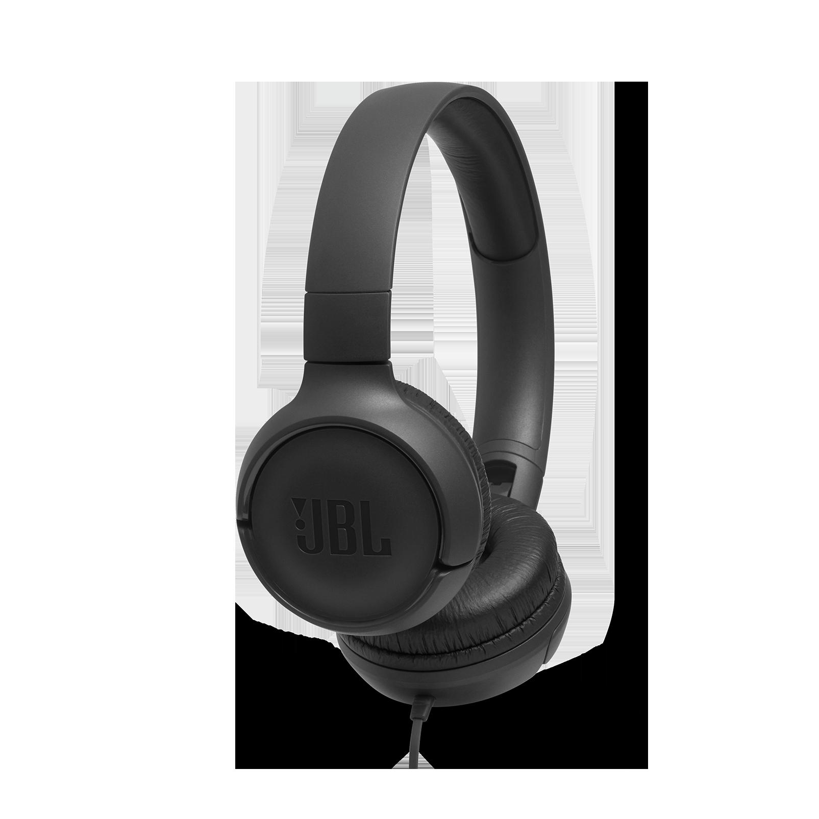 JBL TUNE 500 - Black - Wired on-ear headphones - Hero