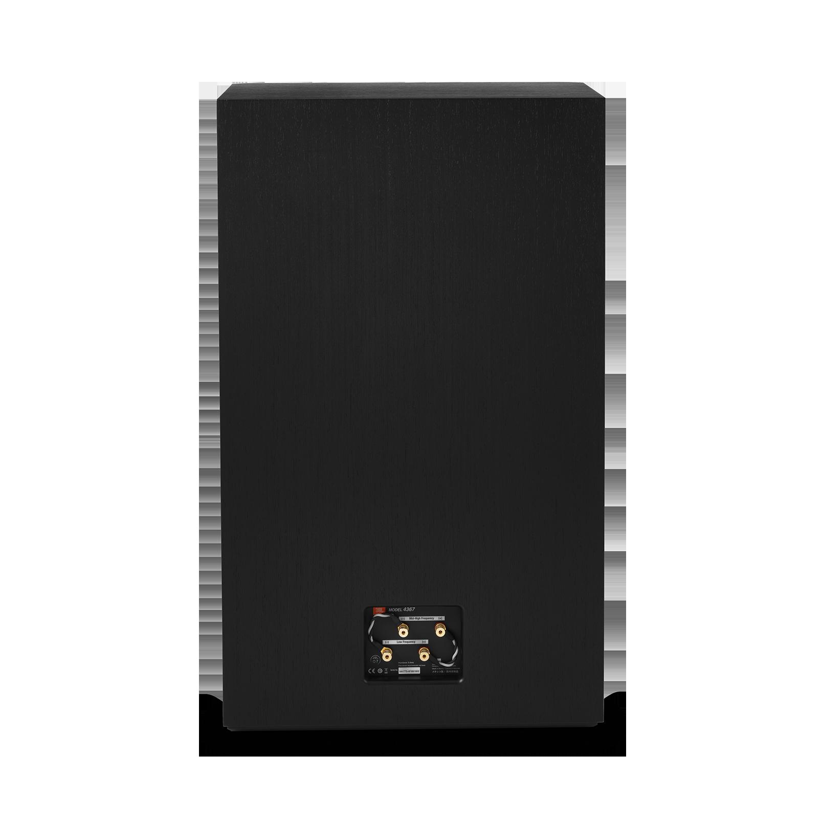 "4367 - Black - 15"" (380mm) 2-way Floorstanding Studio Monitor Loudspeaker - Back"