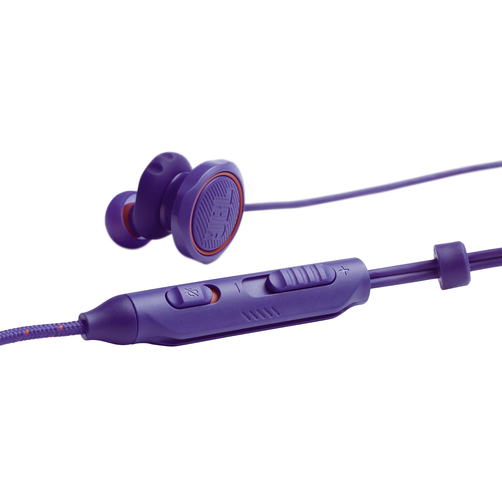 JBL Quantum 50 - Purple - Wired in-ear gaming headset with volume slider and mic mute - Detailshot 1