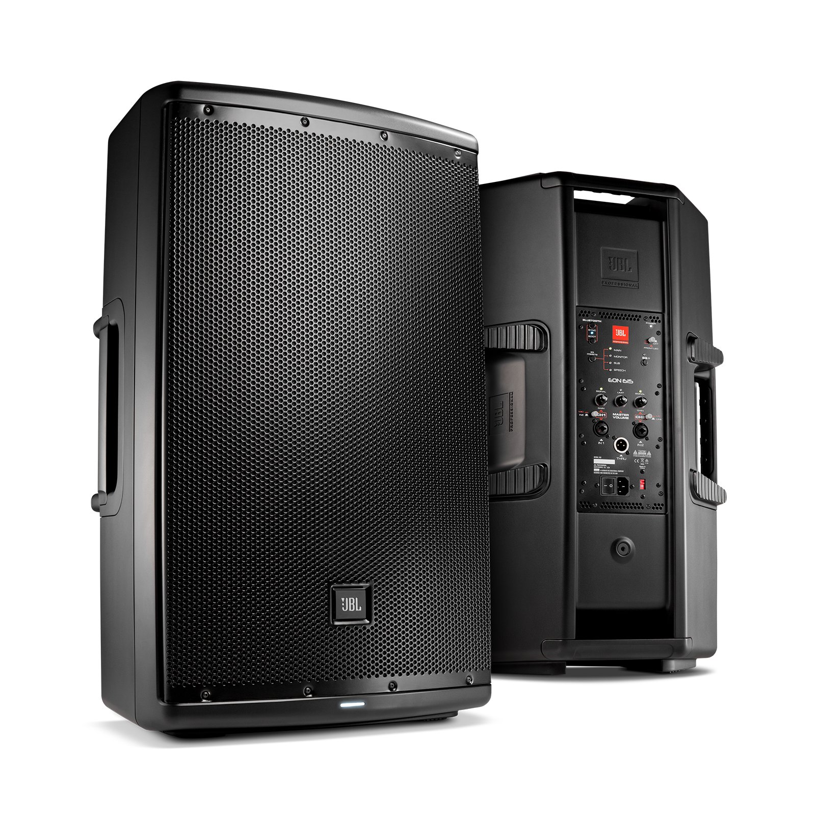 EON600 Series - Black - Affordable High Quality Powered Stage Monitors & Sound Reinforcement - Hero