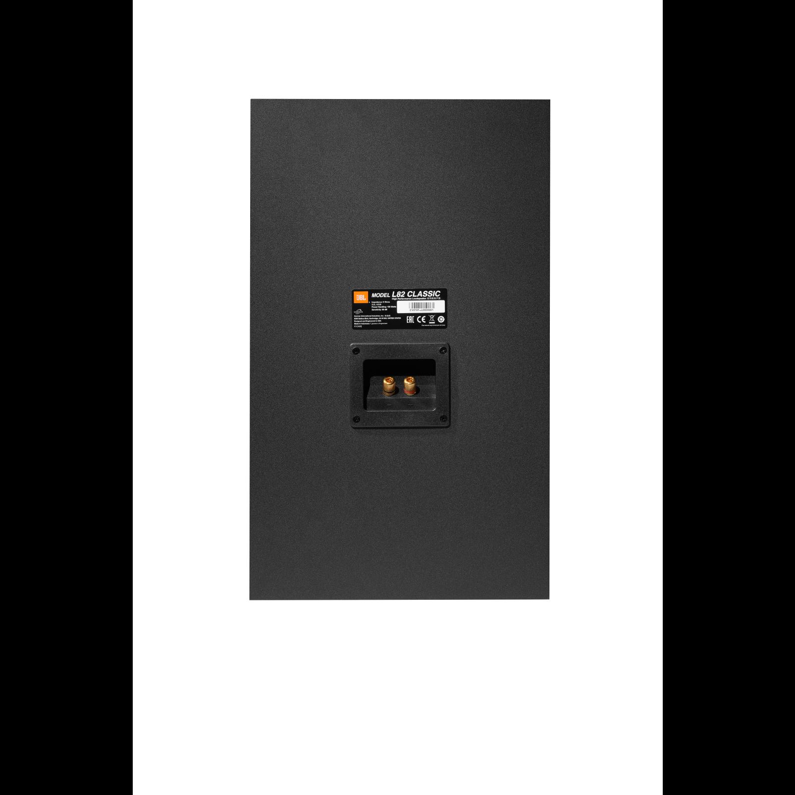 "L82 Classic - Black - 8"" (200mm) 2-way Bookshelf Loudspeaker - Back"