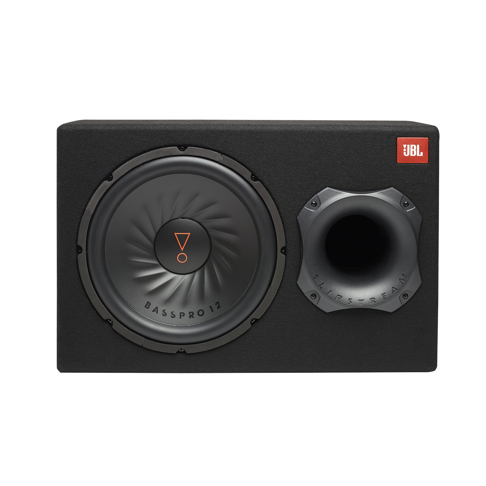 """JBL BassPro 12 - Black - 12"""" (300mm) Car Audio Powered Subwoofer System with Slipstream Port Technology - Front"""