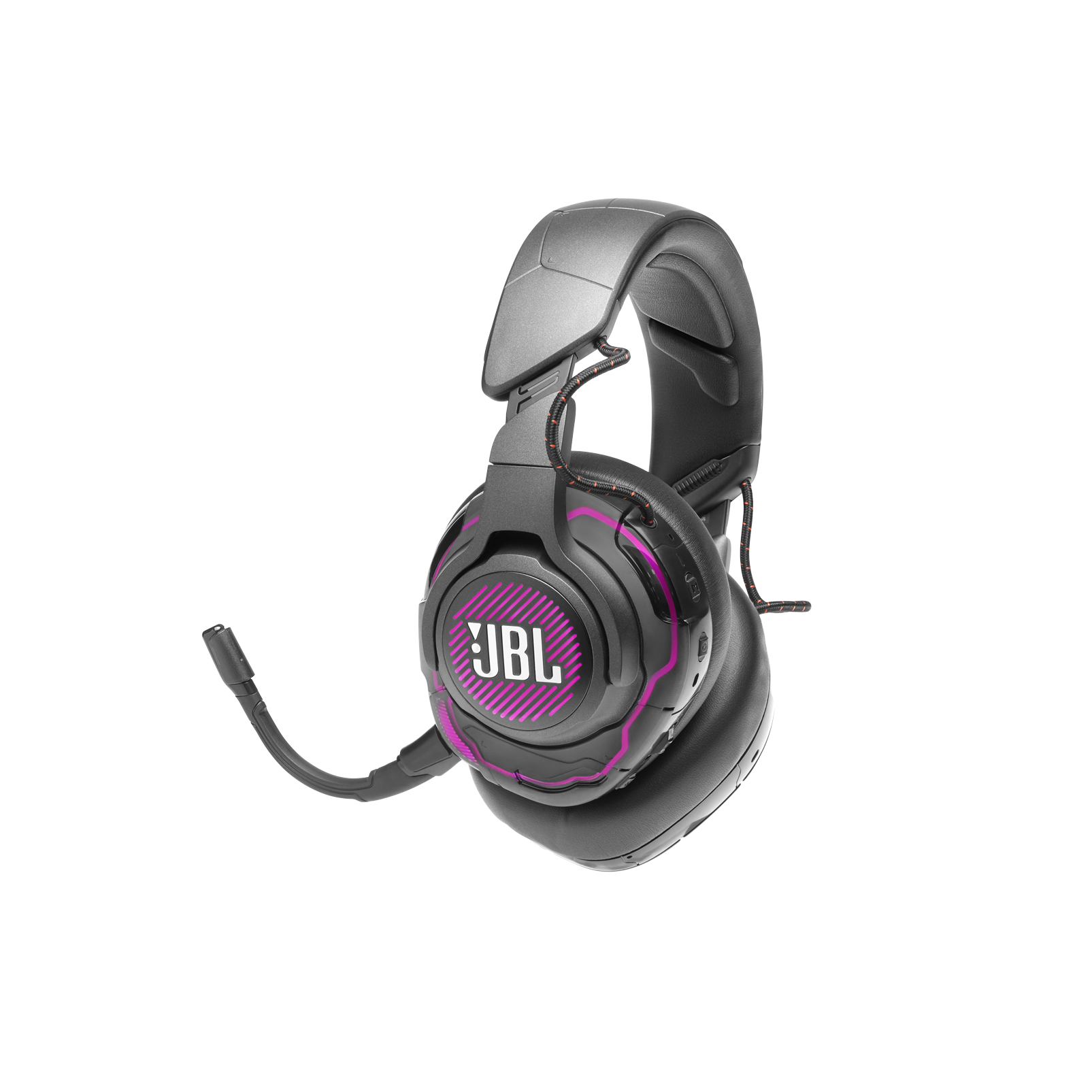 JBL Quantum ONE - Black - USB wired over-ear professional gaming headset with head-tracking enhanced JBL QuantumSPHERE 360 - Detailshot 3