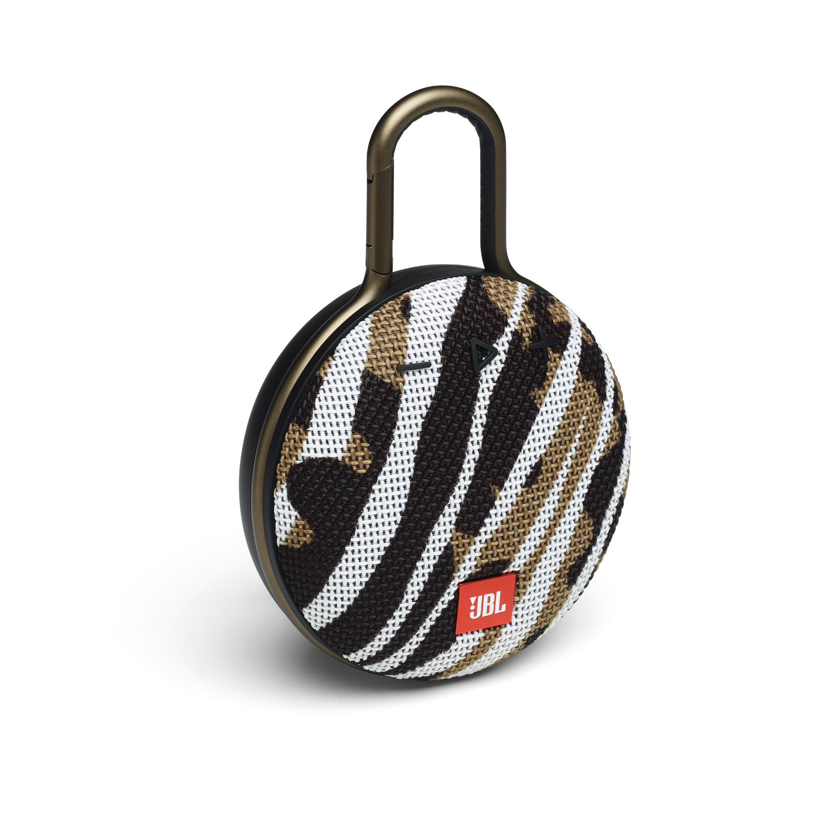 JBL CLIP 3 - BlackWhite/Brown Camo - Portable Bluetooth® speaker - Hero