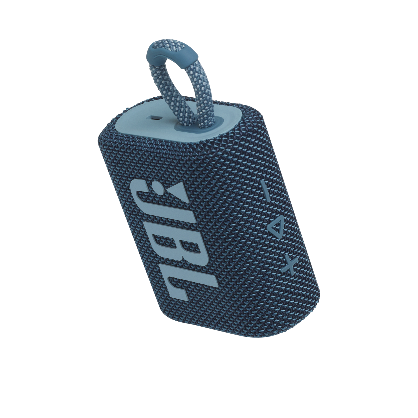 JBL GO 3 - Blue - Portable Waterproof Speaker - Detailshot 2
