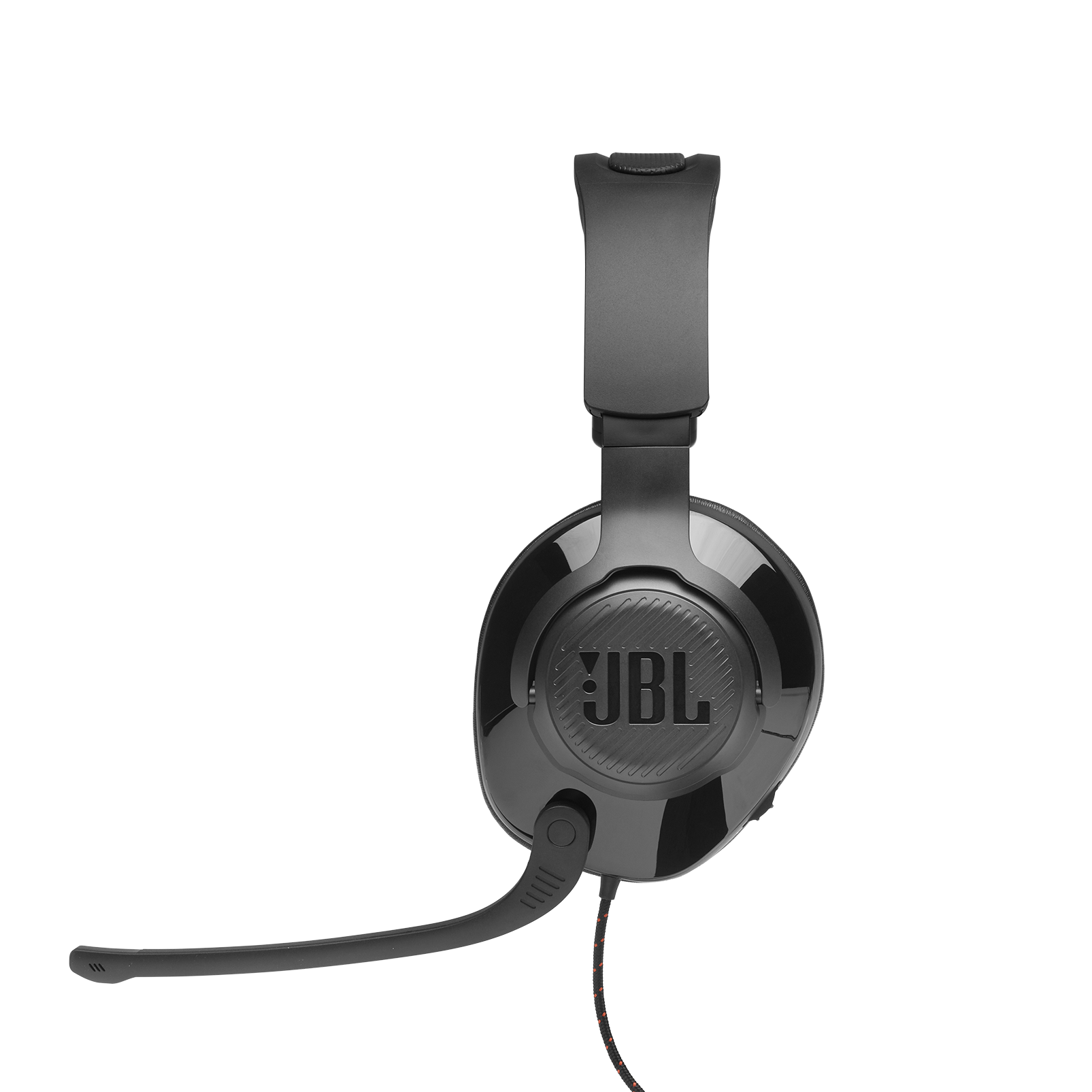JBL Quantum 300 - Black - Hybrid wired over-ear gaming headset with flip-up mic - Detailshot 6
